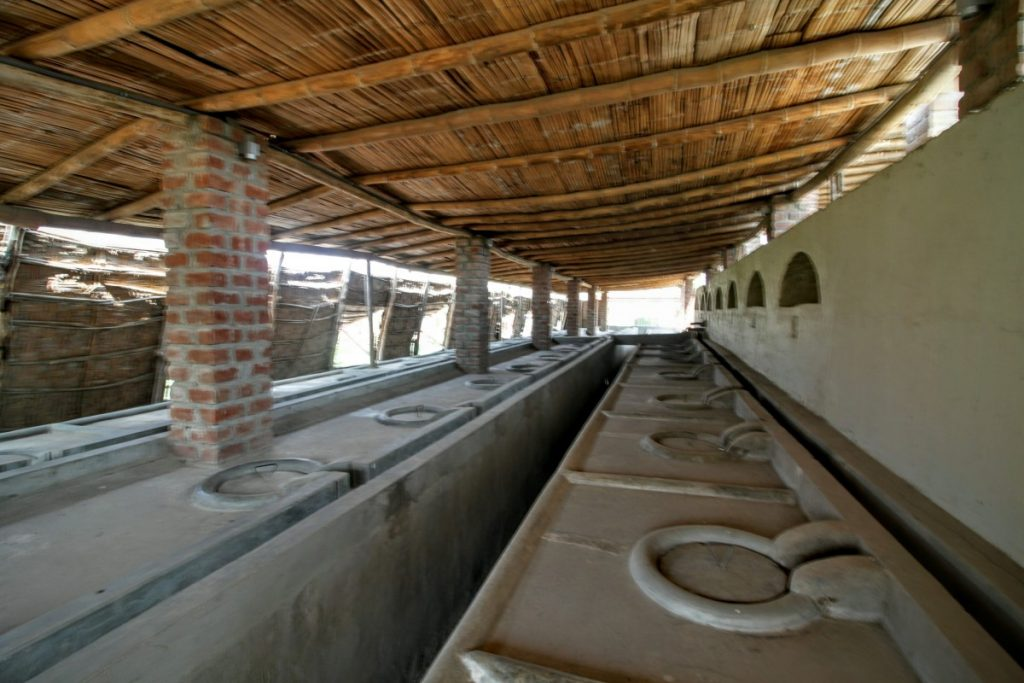 The original fermentation tanks of Pisco Portón