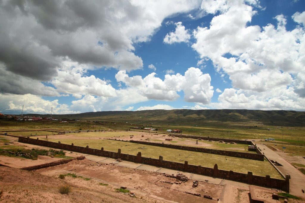 The vast, still partially buried ruins at Tiwanaku