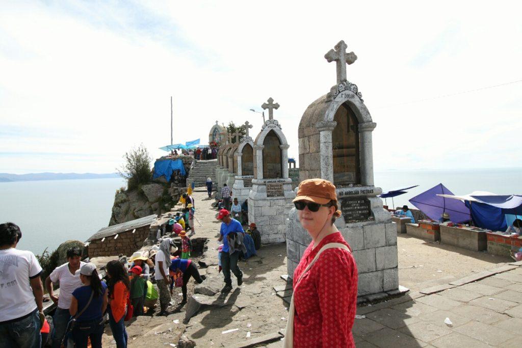 Despite bins everywhere, the pilgrims chose not to use them