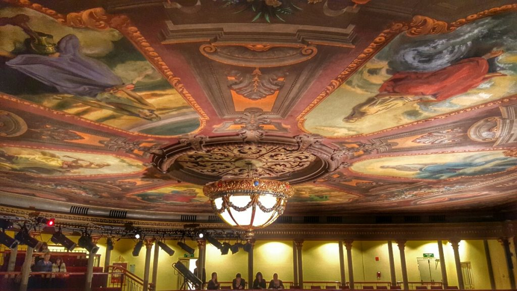 Even the ceiling is fancy