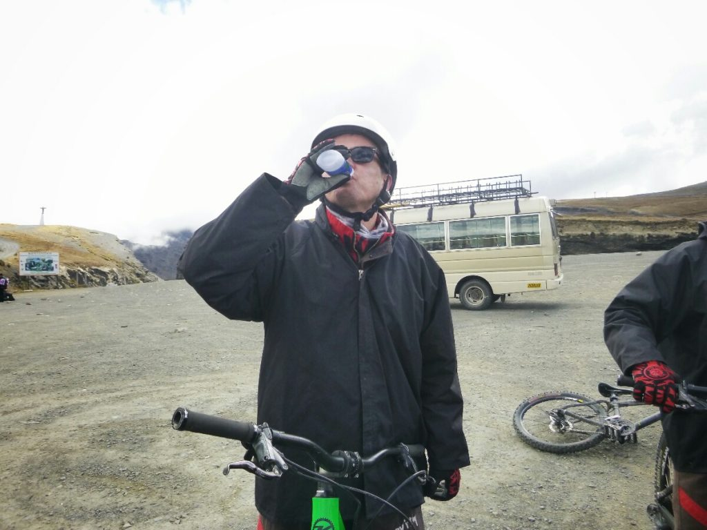 One for me, one for the bike, and one for Pachamama (98% alcohol)