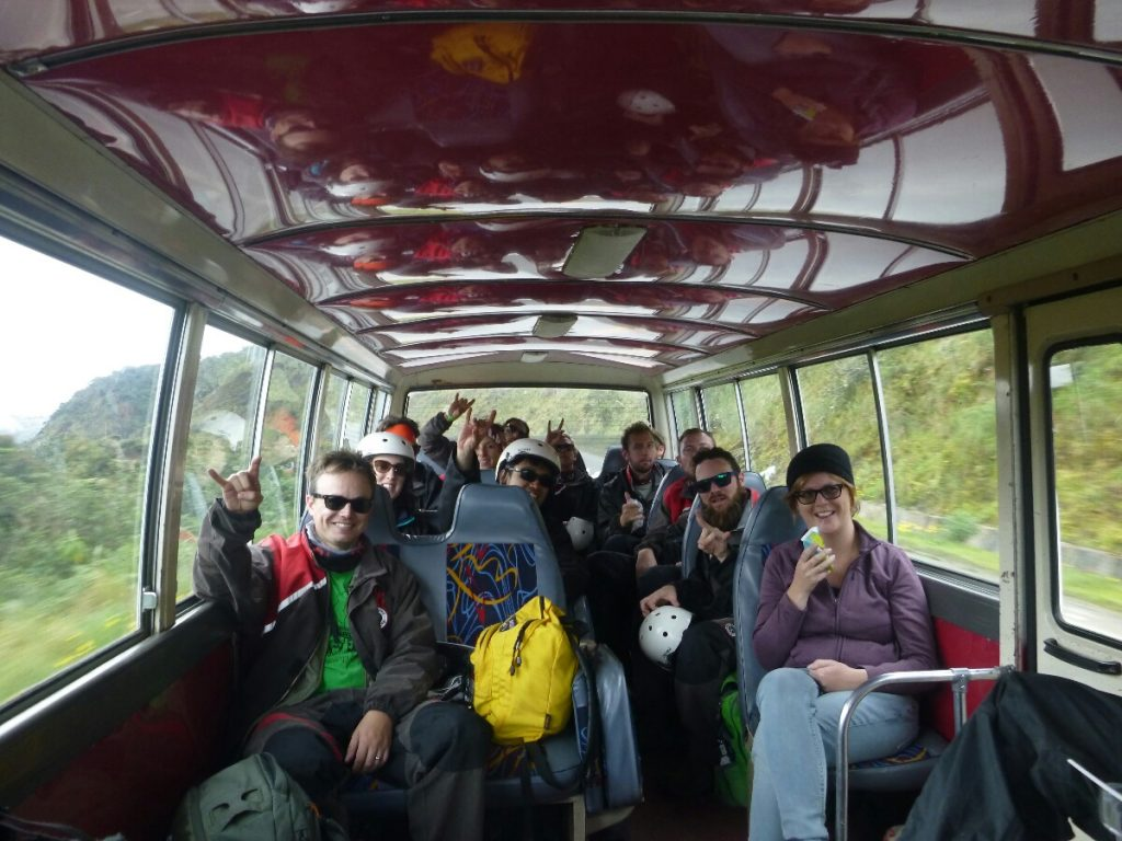 A bus load of mostly hungover Englishmen