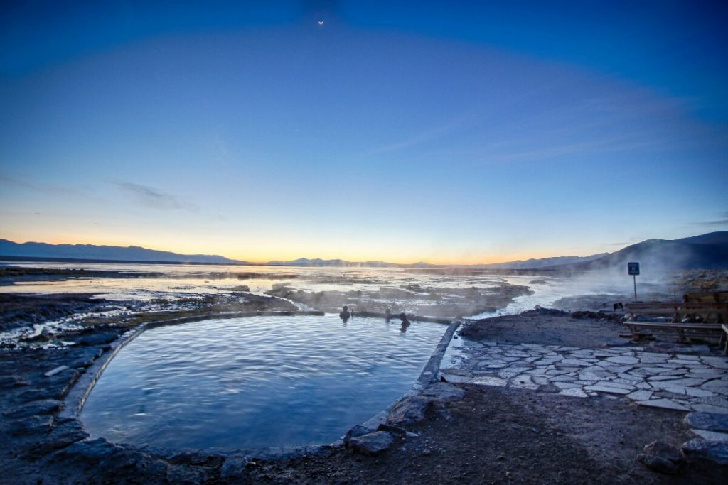 Here's what the hotspring looked like in the predawn light